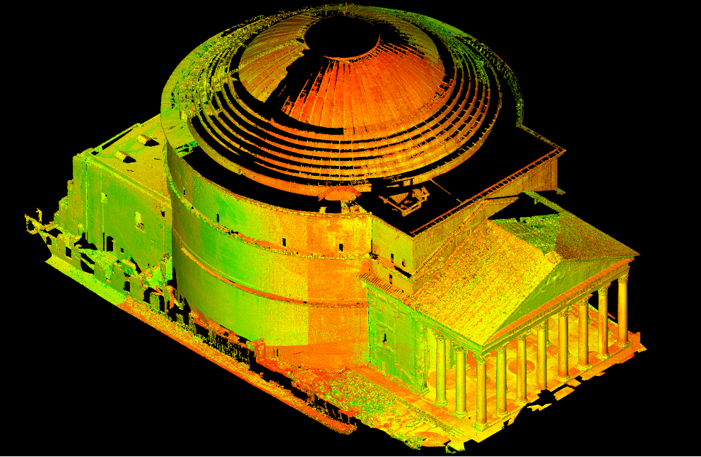 The Pantheon in Rome in a digital collection of the publication platform Edition Topoi. Image credit: The Bern Digital Pantheon Project. (2016). Isometric projection, facing south-west. Edition Topoi. doi.org/10.17171/1-4-1044-1